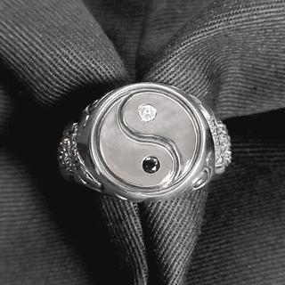 ☆陰陽太極図銀製指輪silver925☆陰陽道  森羅万象 スピリチュアル   (リング(指輪))