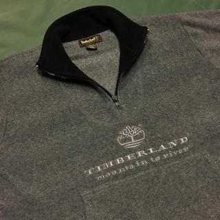 ティンバーランド(Timberland)の90's Timberland ロゴ刺繍 ハーフジップ プルオーバー フリース(ブルゾン)
