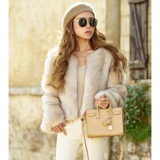アリシアスタン(ALEXIA STAM)のglamlips Nocollar Gradation Col Fur Coat(毛皮/ファーコート)