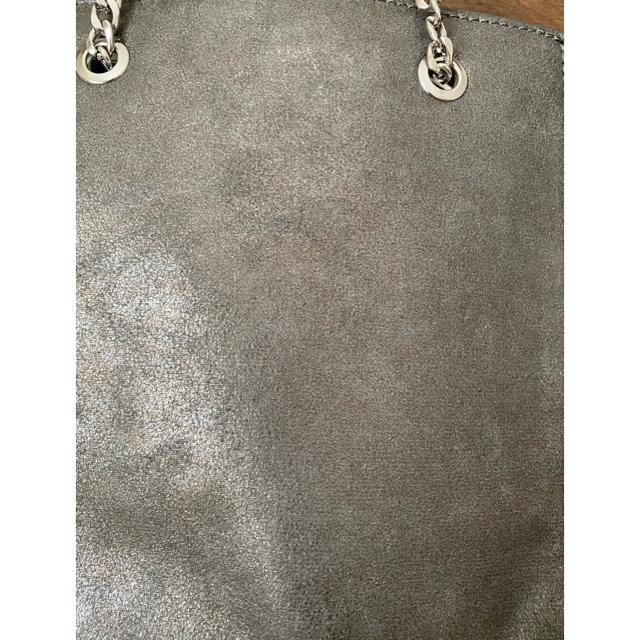 ZARA(ザラ)のN.様専用 ZARAスタッズ付きトートバッグ ステラ風♡シルバーグレー レディースのバッグ(トートバッグ)の商品写真