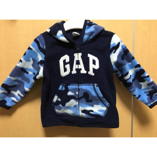 GAP - 美品 GAP 耳付きフリースパーカー 12〜18m