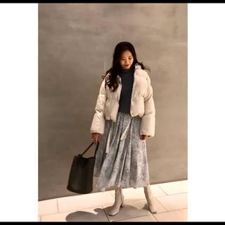 ミラオーウェン(Mila Owen)の大人気 完売 ミラオーウェン Mila  Owen 裾リボンダウンジャケット(ダウンジャケット)