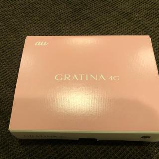 キョウセラ(京セラ)のGRATINA4G KYF31 グラティナ simロック解除済 ピンク新品 au(携帯電話本体)