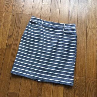 ルーニィ(LOUNIE)の良品☆ルーニィ ボーダー スカート(ひざ丈スカート)