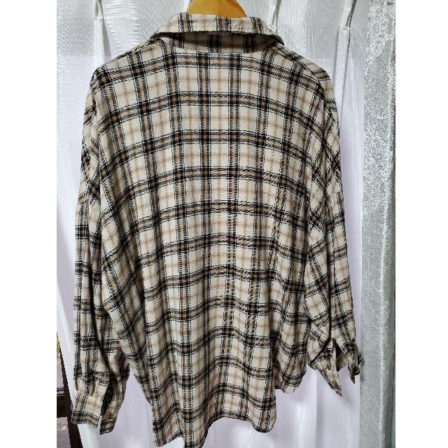 しまむら(シマムラ)のしまむら オーバーチェックシャツ ドルマン レディースのトップス(シャツ/ブラウス(長袖/七分))の商品写真