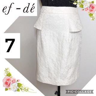 エフデ(ef-de)のef-deエフデ(サイズ7)エレガントなタイトスカート(ミニスカート)