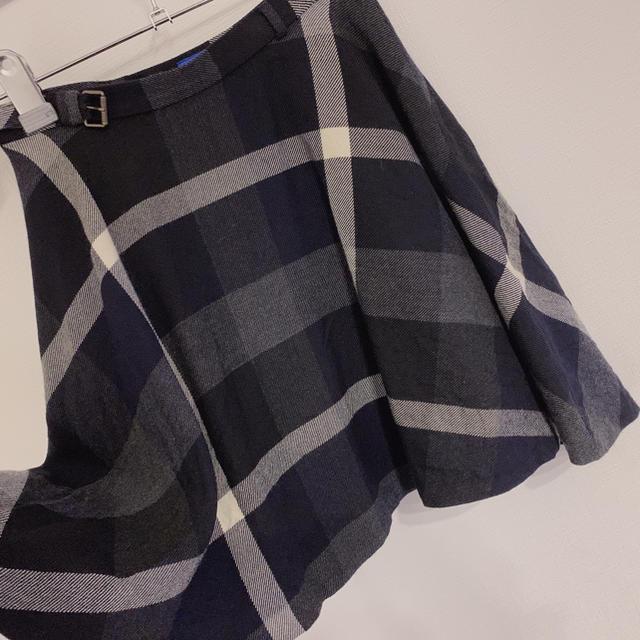 BLACK LABEL CRESTBRIDGE(ブラックレーベルクレストブリッジ)のチェックウールビエラサーキュラースカート レディースのスカート(ひざ丈スカート)の商品写真