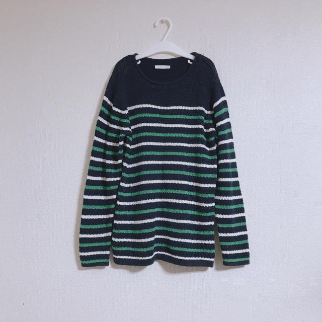 GU(ジーユー)のGU  ボーダー ニット セーター トップス  キッズ/ベビー/マタニティのキッズ服男の子用(90cm~)(ニット)の商品写真