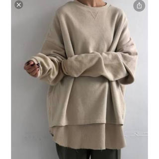 TODAYFUL - Layered Cotton Sweat todayful スウェット