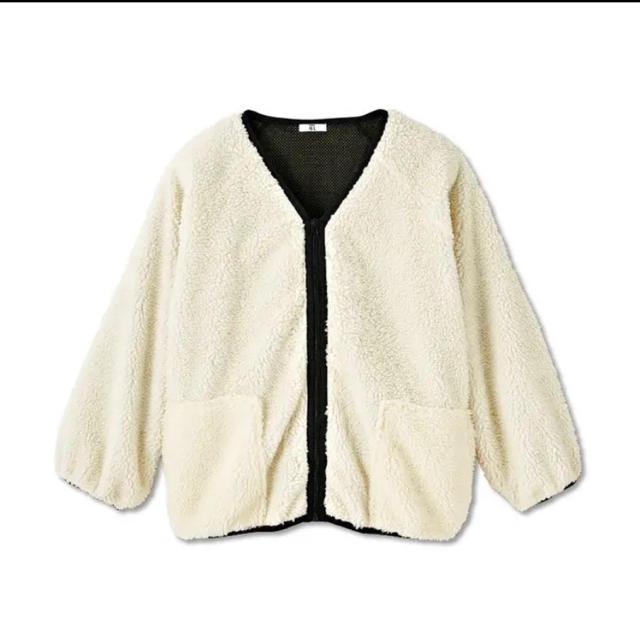 しまむら(シマムラ)のプチプラのあや☆ボアジャケット アウター ブルゾン レディースのジャケット/アウター(ブルゾン)の商品写真