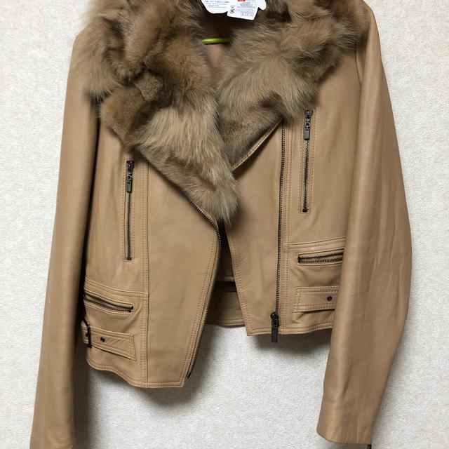 Andy(アンディ)のandy FOXファー ライダース レディースのジャケット/アウター(ライダースジャケット)の商品写真
