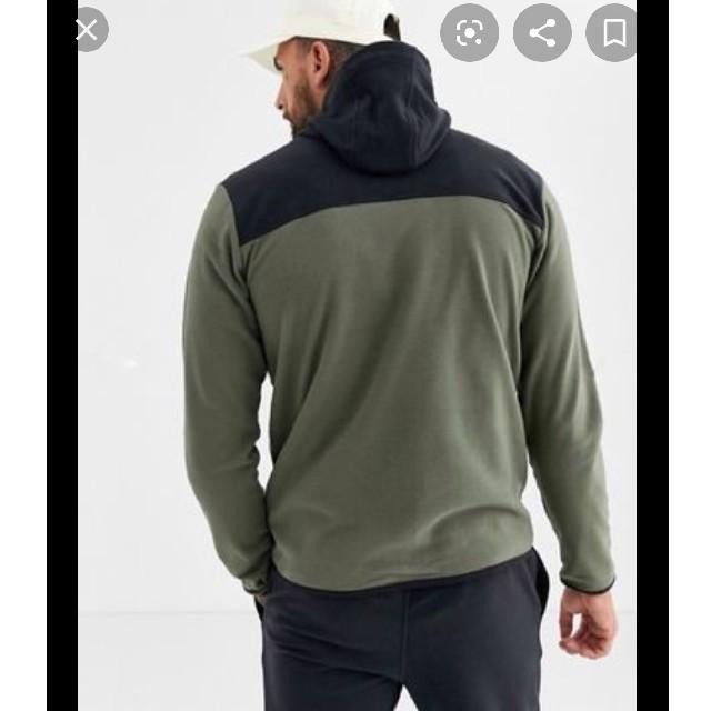 THE NORTH FACE(ザノースフェイス)の新品タグ付き ザ ノースフェイス フリースジャケット メンズ L カーキ 黒 メンズのジャケット/アウター(ブルゾン)の商品写真