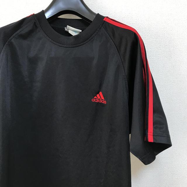 adidas(アディダス)のadidas アディダス Tシャツ 黒赤 スポーツ/アウトドアのトレーニング/エクササイズ(トレーニング用品)の商品写真