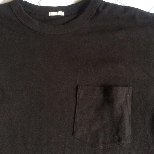 GU(ジーユー)のヘビーウェイト ビッグTシャツ GU ブラック XL 黒 ジーユー メンズのトップス(Tシャツ/カットソー(半袖/袖なし))の商品写真