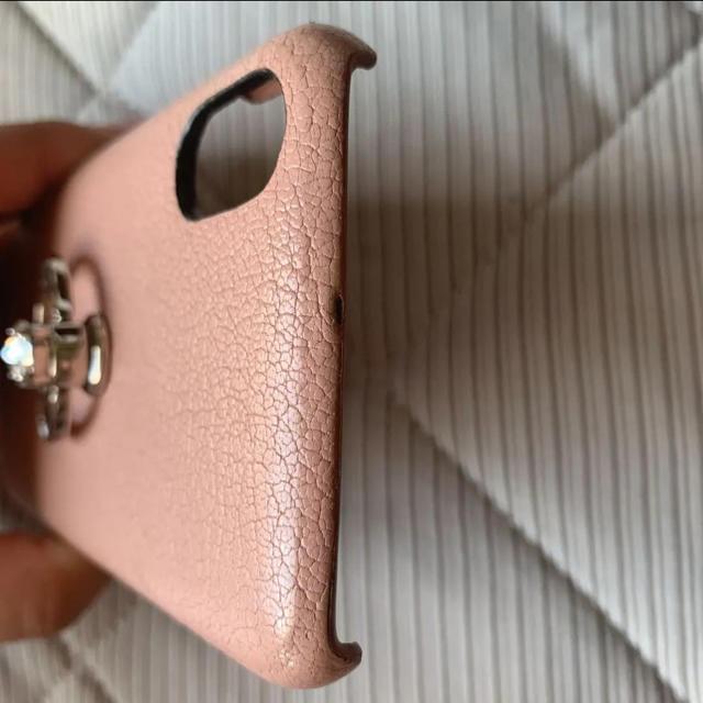 miumiu(ミュウミュウ)のミュウミュウ iPhoneケース iPhone X XS マドラス レザー スマホ/家電/カメラのスマホアクセサリー(iPhoneケース)の商品写真