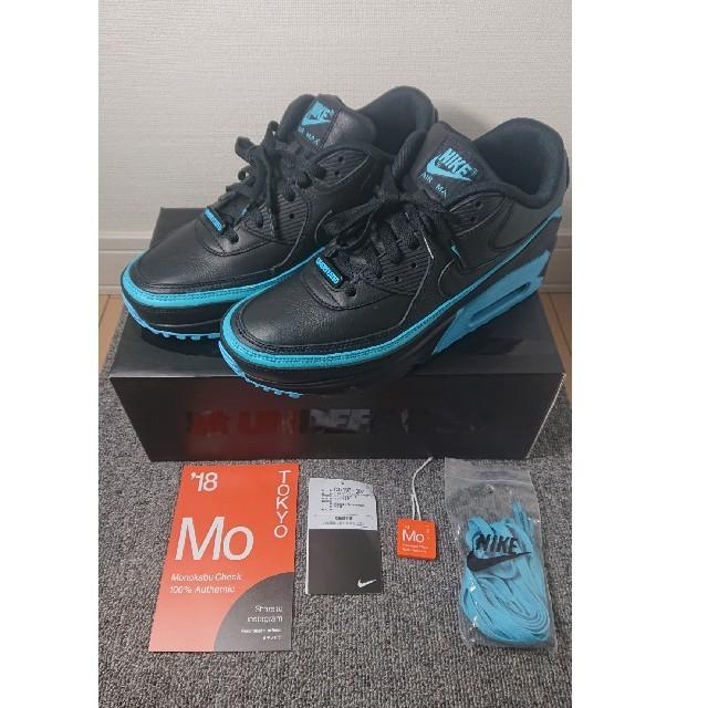 NIKE(ナイキ)の完売品 NIKE UNDEFEATED × AIR MAX 90 黒青26.5c メンズの靴/シューズ(スニーカー)の商品写真