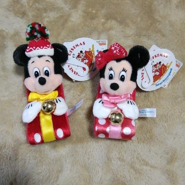 Disney(ディズニー)のディズニーランド ミッキー&ミニーぬいぐるみバンドセット(未使用) エンタメ/ホビーのおもちゃ/ぬいぐるみ(キャラクターグッズ)の商品写真
