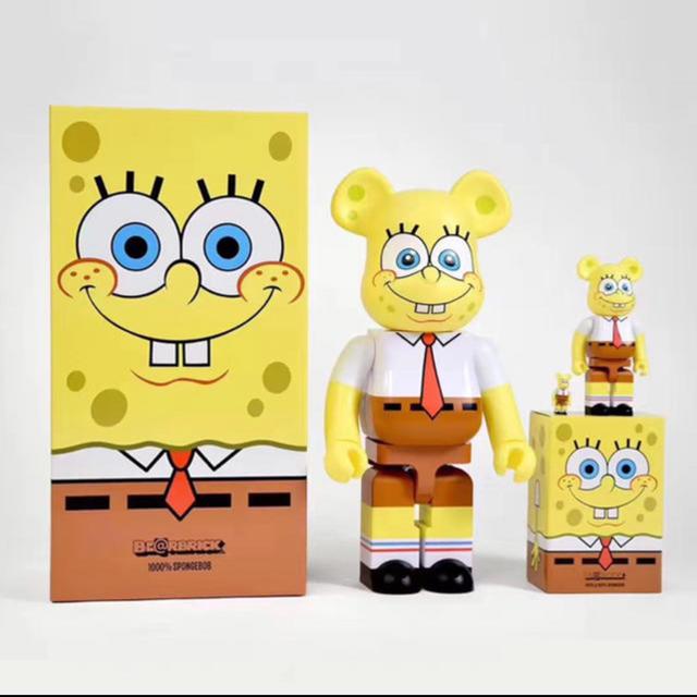 MEDICOM TOY(メディコムトイ)のBE@RBRICK SpongeBob 400% 100% エンタメ/ホビーのフィギュア(その他)の商品写真