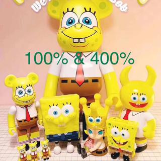 MEDICOM TOY - BE@RBRICK SpongeBob 400% 100%