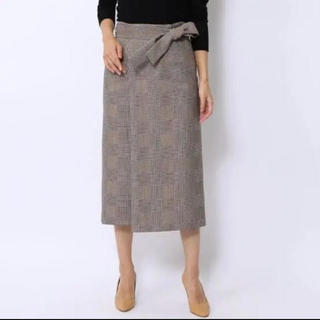 トゥモローランド(TOMORROWLAND)のTomorrowland ballsey チェック柄スカート(ひざ丈スカート)