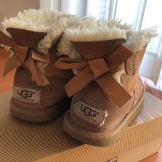 アグ(UGG)のUGG アグオーストリア リボン ブーツ ムートン キッズ 18,5 18 12(ブーツ)