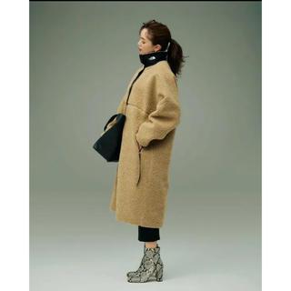 ハイク(HYKE)の新品HYKE THE NORTH FACE Tec Boa Coat TAN S(ロングコート)
