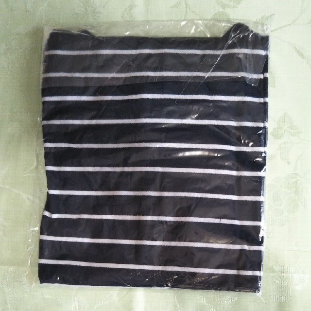 ボーダー シャツ 長袖 ネイビー LL ecorogyfirst  レディースのトップス(Tシャツ(長袖/七分))の商品写真