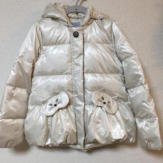 アナスイミニ(ANNA SUI mini)の新品 未使用 タグ付き アナスイミニ ダウン コート 150 ネコ 可愛い(コート)