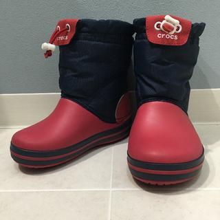 クロックス(crocs)のcrocs スノーブーツ キッズ 17 17.5 雪 レインブーツ(ブーツ)