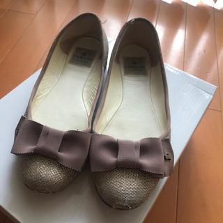 LANVIN en Bleu - LANVIN ランバン リボン パンプス 靴 23.5 24 バレエシューズ