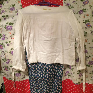 マルタンマルジェラ(Maison Martin Margiela)のMM6⭐️ブラウス風カットソー⭐️送料込(Tシャツ(長袖/七分))