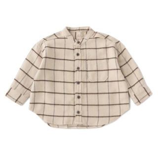 プティマイン(petit main)のpetit main    ヘリンボーンチェックシャツ(ブラウス)