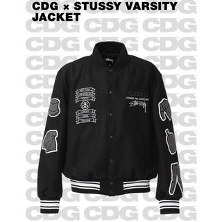 STUSSY - S サイズ Stussy CDG コラボ varsity jacket