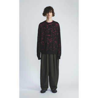 LAD MUSICIAN - BOTANICAL LACE KNIT PULLOVER