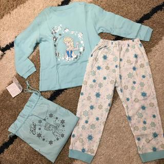Disney - 新品 エルサ 長袖パジャマ  120 巾着付き