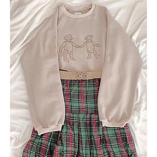 メリージェニー(merry jenny)の【美品】古着チェックロングスカート(ロングスカート)