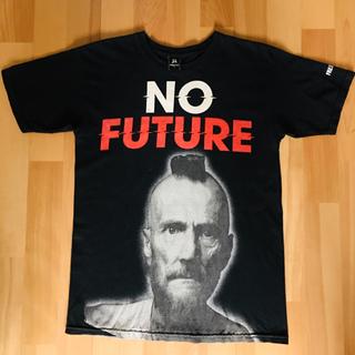 NO FUTURE ブラック 黒 Tシャツ モヒカン パンク (Tシャツ/カットソー(半袖/袖なし))