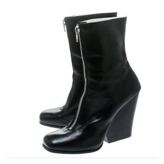 セリーヌ(celine)のCeline セリーヌ ブラック ブーツ フィービー 39.5 ジップアップ(ブーツ)
