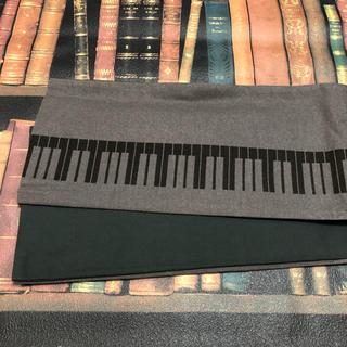 ふりふ - 【未使用】居内商店 ゴフクヤサン 鍵盤柄 ピアノ柄半幅帯