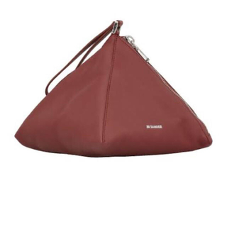 ジルサンダー(Jil Sander)のジルサンダー  トライアングル 巾着 バッグ 美品 ピラミッド(ハンドバッグ)