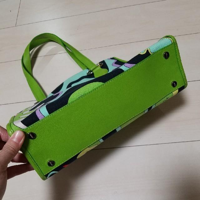 EMILIO PUCCI(エミリオプッチ)のきく様専用!美品 エミリオプッチ バッグ グリーン レディース レディースのバッグ(トートバッグ)の商品写真