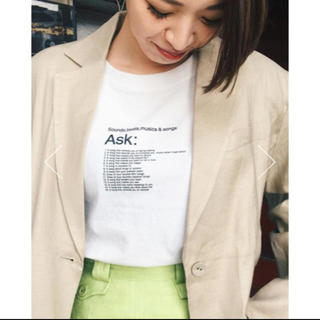 SLY - SLY SONGS ASK Tシャツ moussy ungrid
