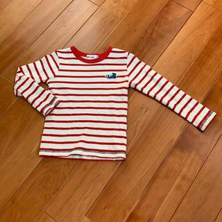 ベベノイユ(BEBE Noeil)のノエル aime べべ 赤ボーダー ロンT110(Tシャツ/カットソー)
