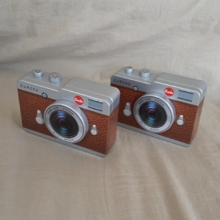 カルディ(KALDI)のKALDI  カメラ缶  2個セット(ブラウン)(菓子/デザート)