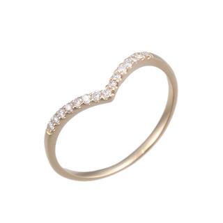 新品 未使用 K18 ダイヤモンド 0.1ct 本物 ハート 指輪 リング(リング(指輪))