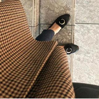 クロエ(Chloe)の美品2019AW クロエ レザーローファー フラットシューズ 37 24㎝ 黒(ローファー/革靴)