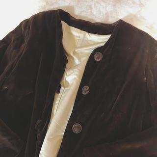 ロキエ(Lochie)の1960's vintage❤︎silk velvet jacket(ノーカラージャケット)