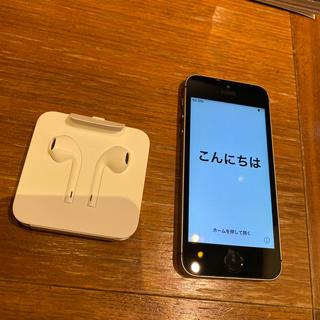 アイフォーン(iPhone)のiPhoneSE 本体 64GB +イヤホン(スマートフォン本体)
