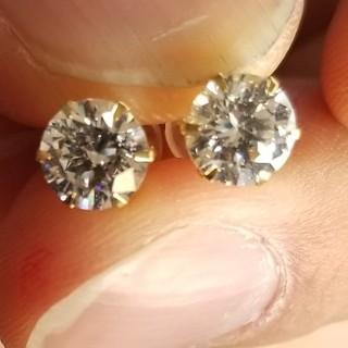HARRY WINSTON - 炎上価格 1カラット ダイヤモンド ピアス キュービックジルコニア 美品 K18
