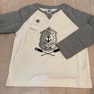プチバトー(PETIT BATEAU)のプチバトー プリントバイカラー長袖Tシャツ 5a(Tシャツ/カットソー)